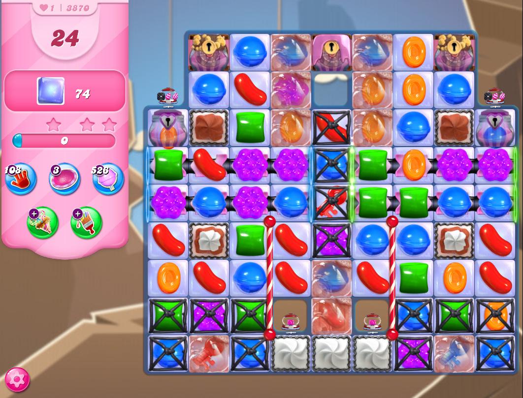Candy Crush Saga level 3870