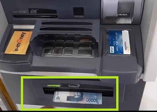 Langkah Ketiga Tarik Uang Lewat ATM Mandiri