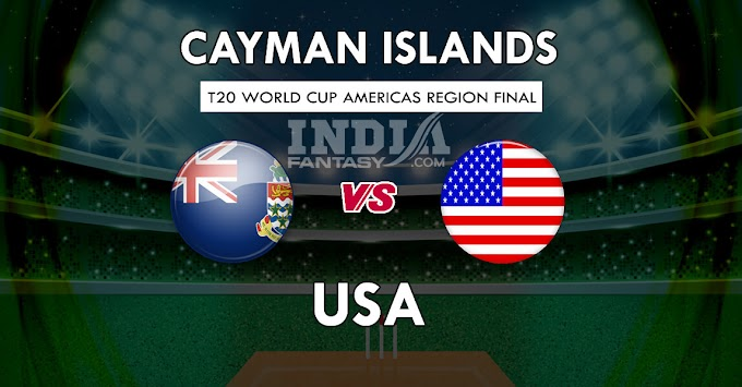CAY vs USA Dream11 Grand League Prediction | Cayman Islands vs United States of America| Americas region final T20 2019 Team PreviewCAYvs