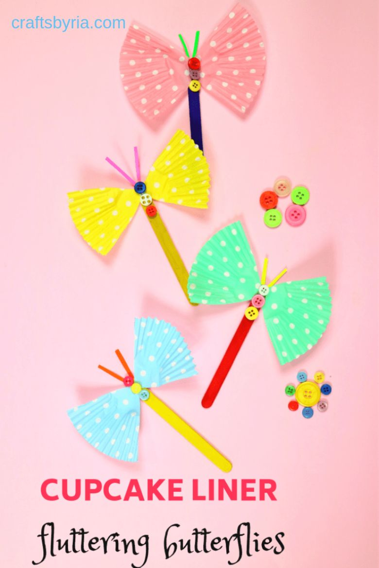 cupcake line butterfly craft