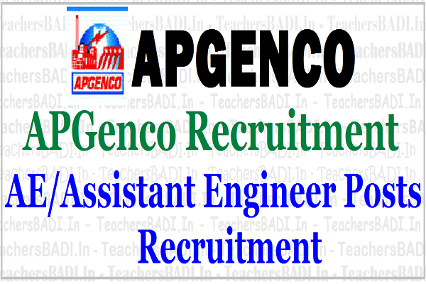APGenco AE Posts,Assistant engineers Recruitment,Apply online