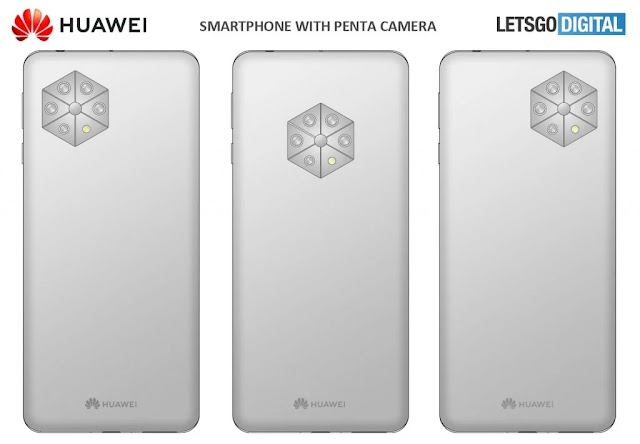 HUAWEI WITH PATENT DEVICES WITH 5 REAR CAMERAS