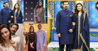 Host Madia Naqvi with her Husband Faisal Sabzwari