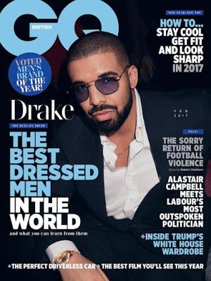 Drake tops GQ magazine's list of 50 best-dressed men for 2016