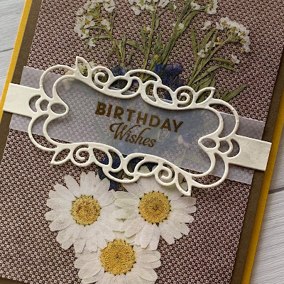 Handmade card idea using Pressed Petals Specialty Designer Series Paper