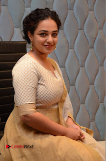 Actress Nithya Menen Pictures at 100 Days of Love Pre Release Press Meet  0153