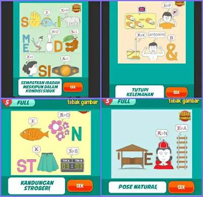 Jawaban tebak gambar level 147 nomor 17-20