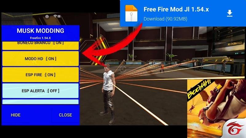 FREE FIRE: NEW MOD MENU HACK V.1.54.3 (Musk Modding)