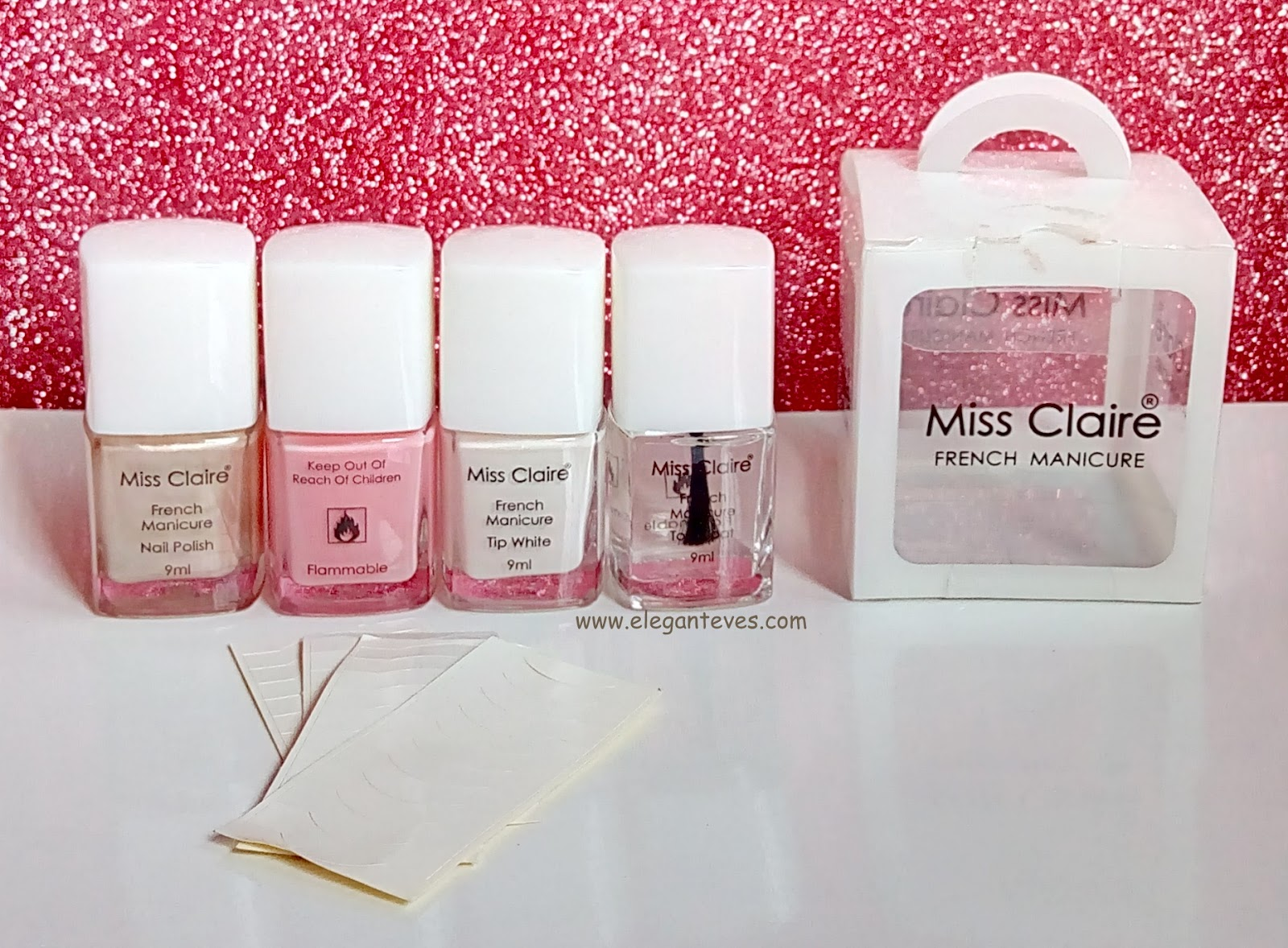 Review of Miss Claire French Manicure Kit - Elegant Eves