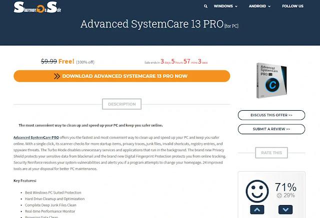 Masa Berlaku Lisensi Advanced SystemCare 13 Pro SharewareOnSale