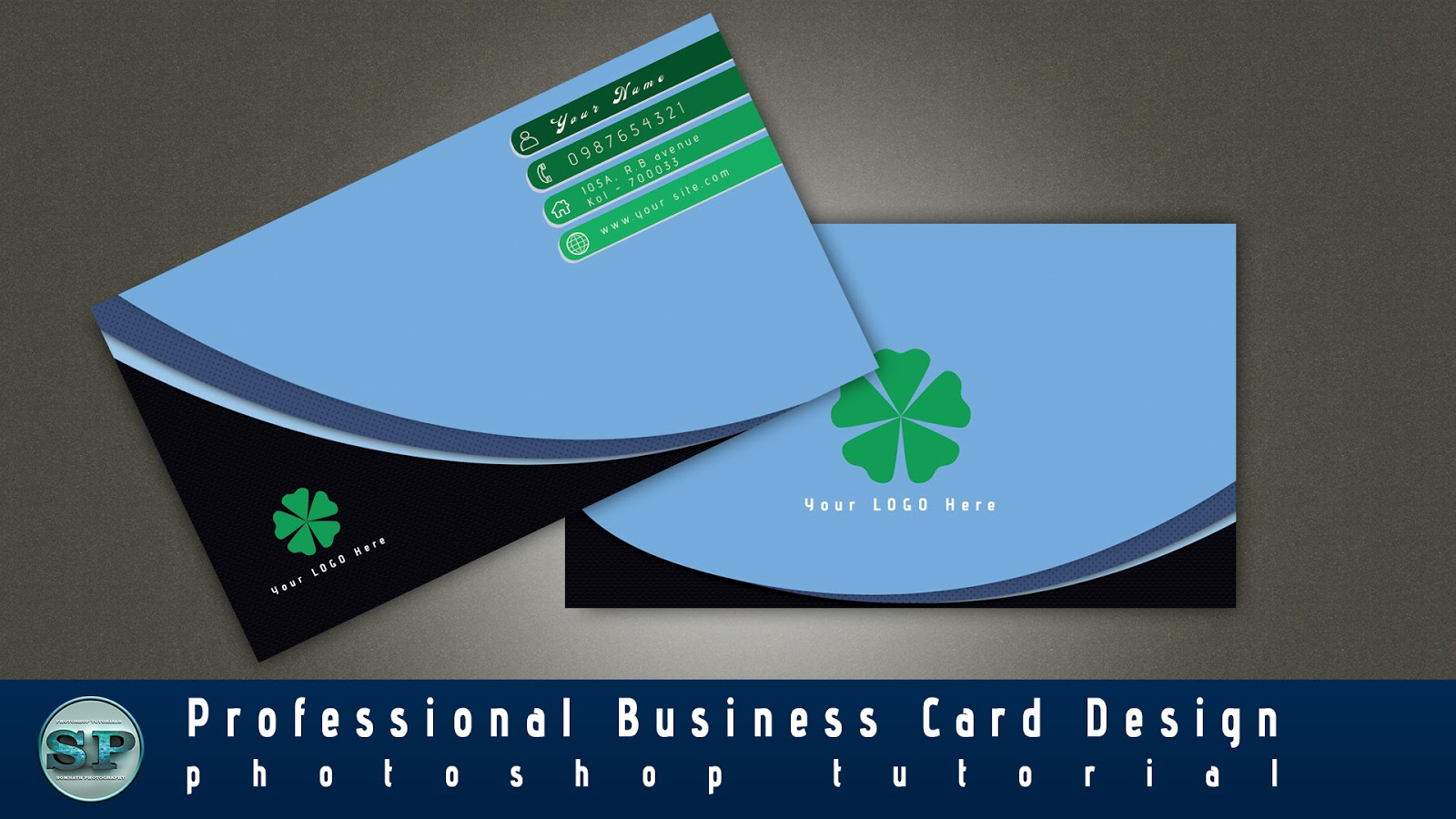 Photoshop tutorials 2017 how to design professional for How to make business cards in photoshop cs6