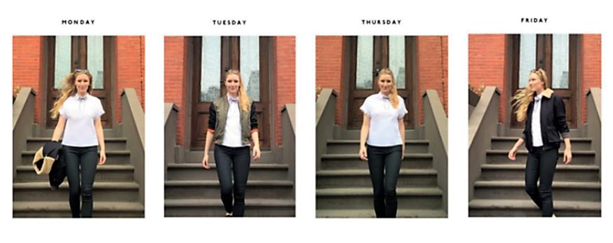 Çalışma hayatında kıyafet seçimi konusunda stres yaşayan Matilda Kahl, her gün işe aynı kıyafetle gitme kararı aldı