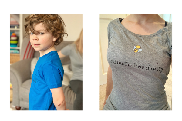 full length tshirt shop of positive clothng from peonies and peace
