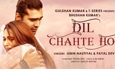 Dil Chahte Ho Lyrics - Jubin Nautiyal   Payal Dev