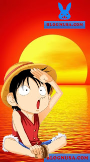Wallpaper Luffy Chibi