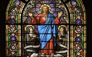 Chiesa vetrata Gesù con santi
