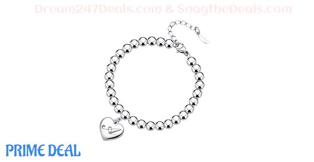Initial Heart Charm Bracelets 50% OFF