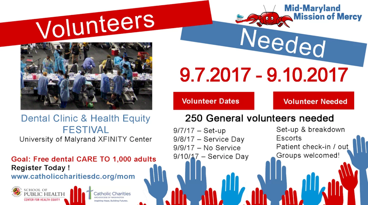UMD PSYC E-News: Volunteer with the Mission of Mercy Dental Clinic