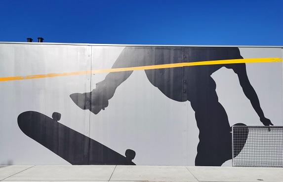 Albury Street Art by Kade Sarte at J.C King Park