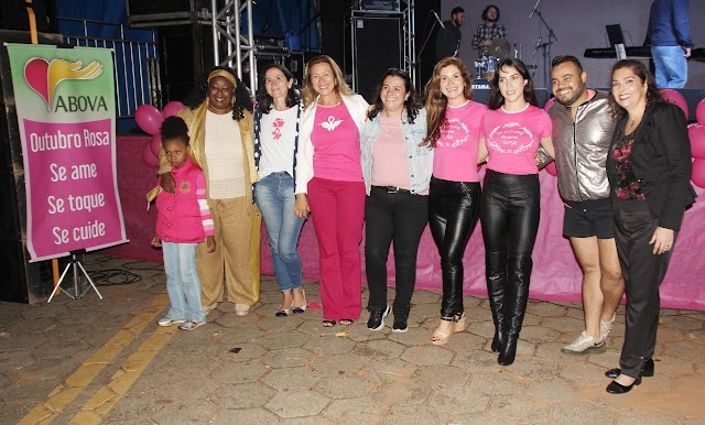 Show no Cristo Redentor encerra evento em alusão ao Outubro Rosa