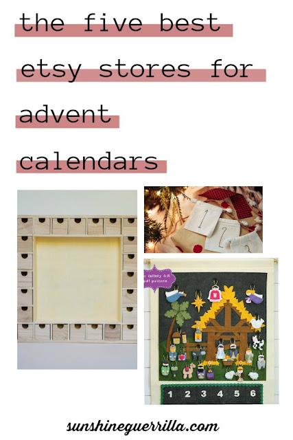 The Best Etsy Stores for Advent Calendars