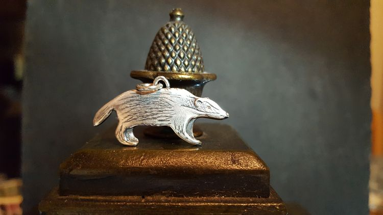 Silver Badger Pendant by Leisa Howes Jewellery