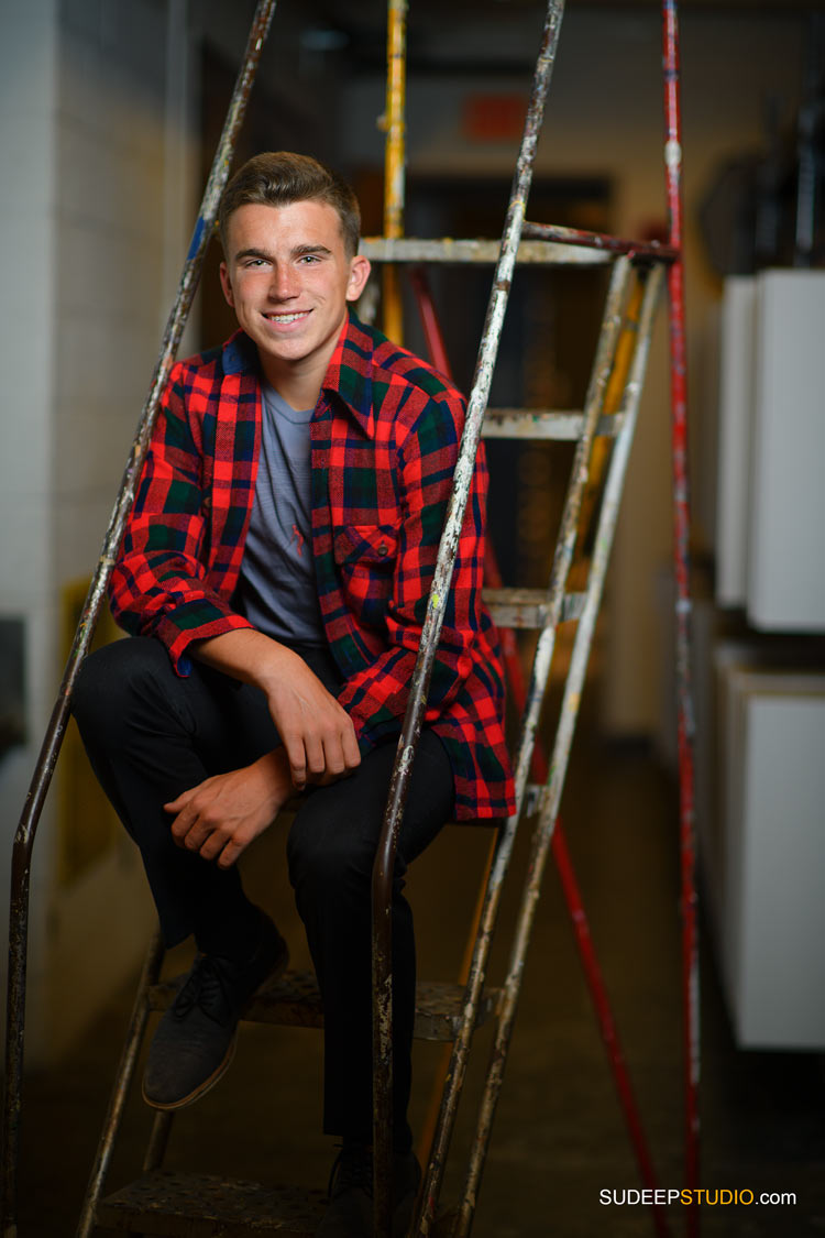 Skyline High School Guys Senior Portraits Lumberjack Flannel Style SudeepStudio.com Ann Arbor Senior Pictures Photographer