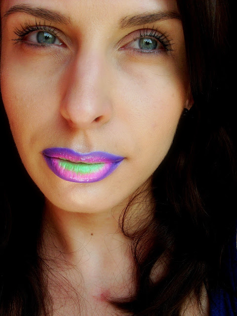 rainbow lips, toxic lips, colorfull lips look, fashion makeup, makeup, wizaż, kolorowe eksperymenty,