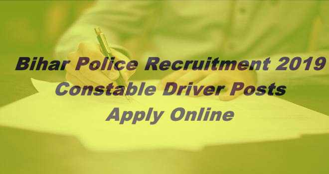 Bihar Police Constable Driver *1722 Vacancy Position