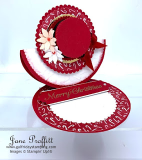 Stampin' Up! Poinsettia Place Suite  Hat easel card