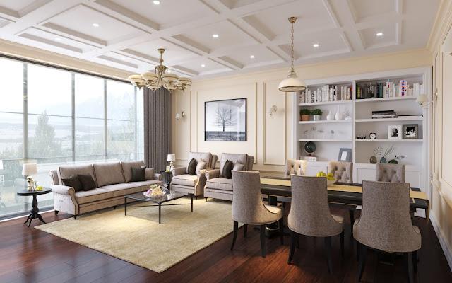 Thiết kế nội thất phòng khách + bếp tại Iris Garden