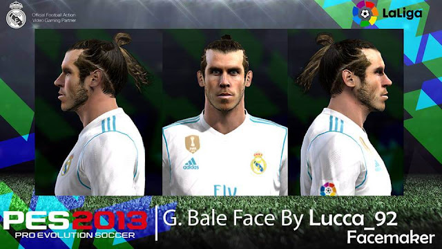 PES 2013 Gareth Bale Face By Lucca_92 Facemaker