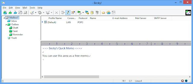 Screenshot Becky! Internet Mail 2.74.03 Full Version