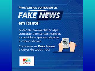 Itaetê atua para combater fake news