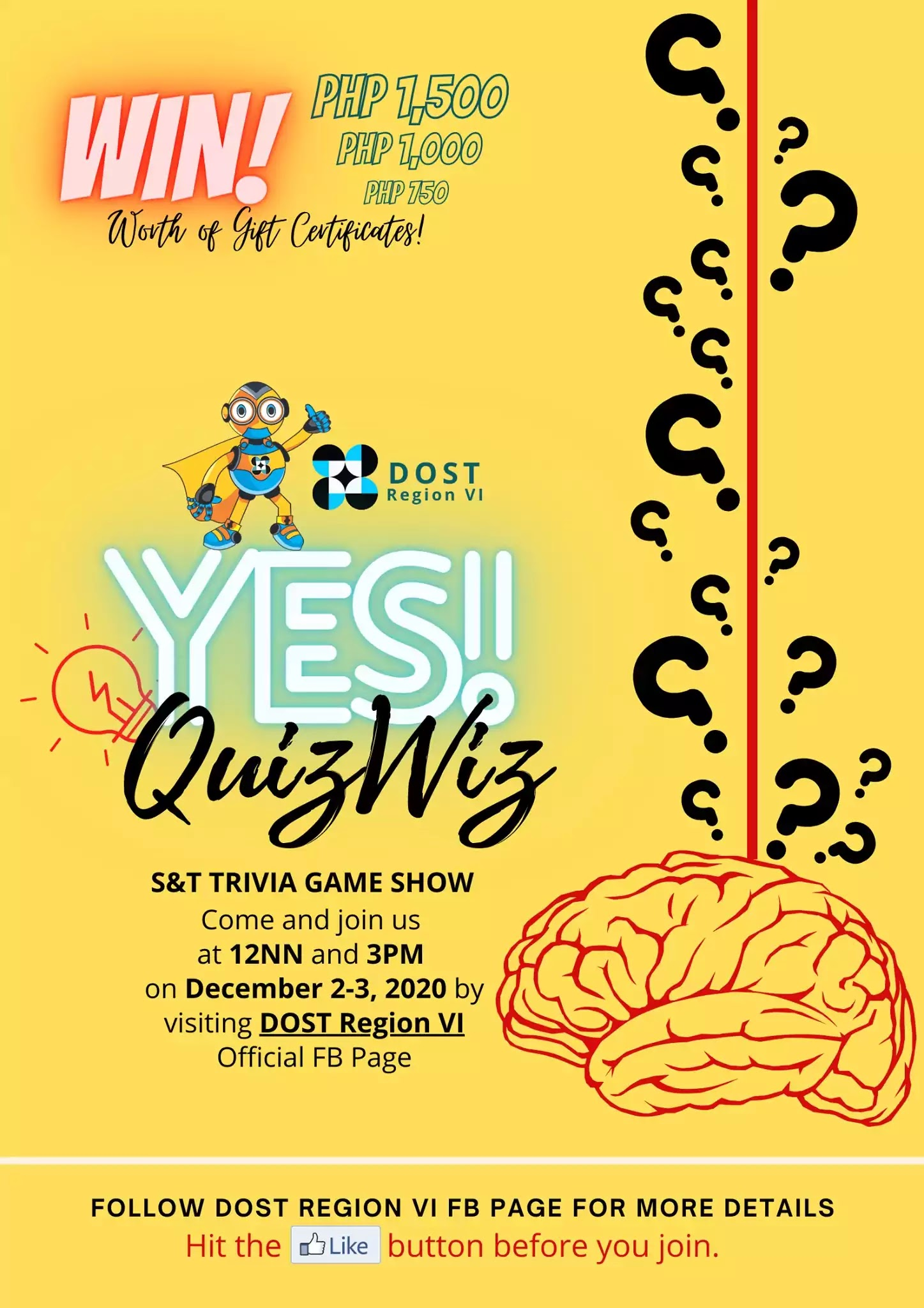 YES! Quiz Wiz S&T Trivia Game Show