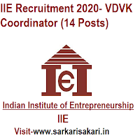 IIE Recruitment 2020- VDVK Coordinator (14 Posts)
