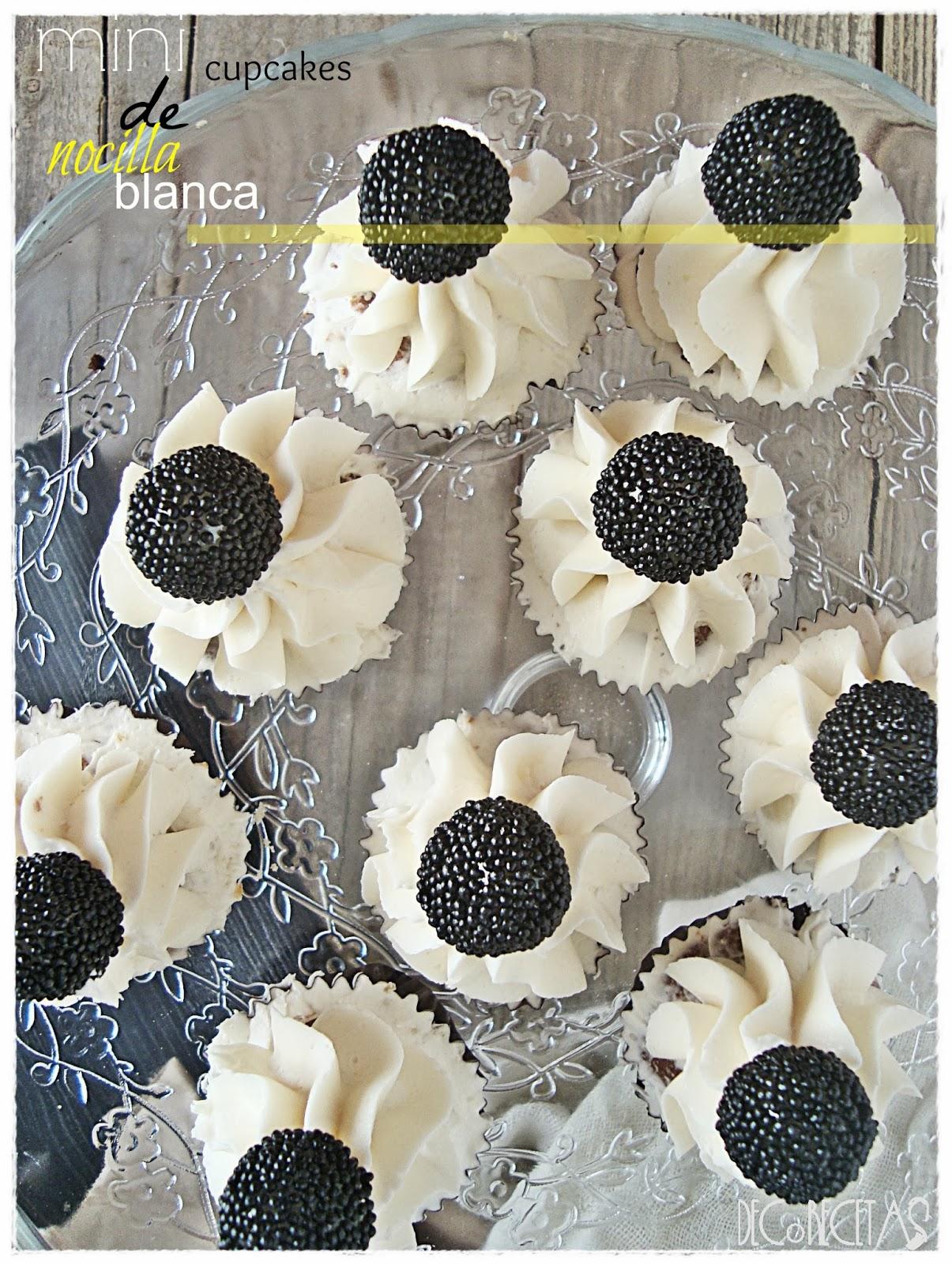 Mini-cupcakes de Nocilla blanca