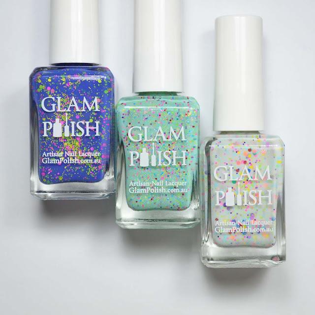 glitter nail polish trio