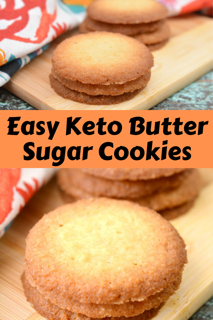 Easy Keto Butter Sugar Cookies