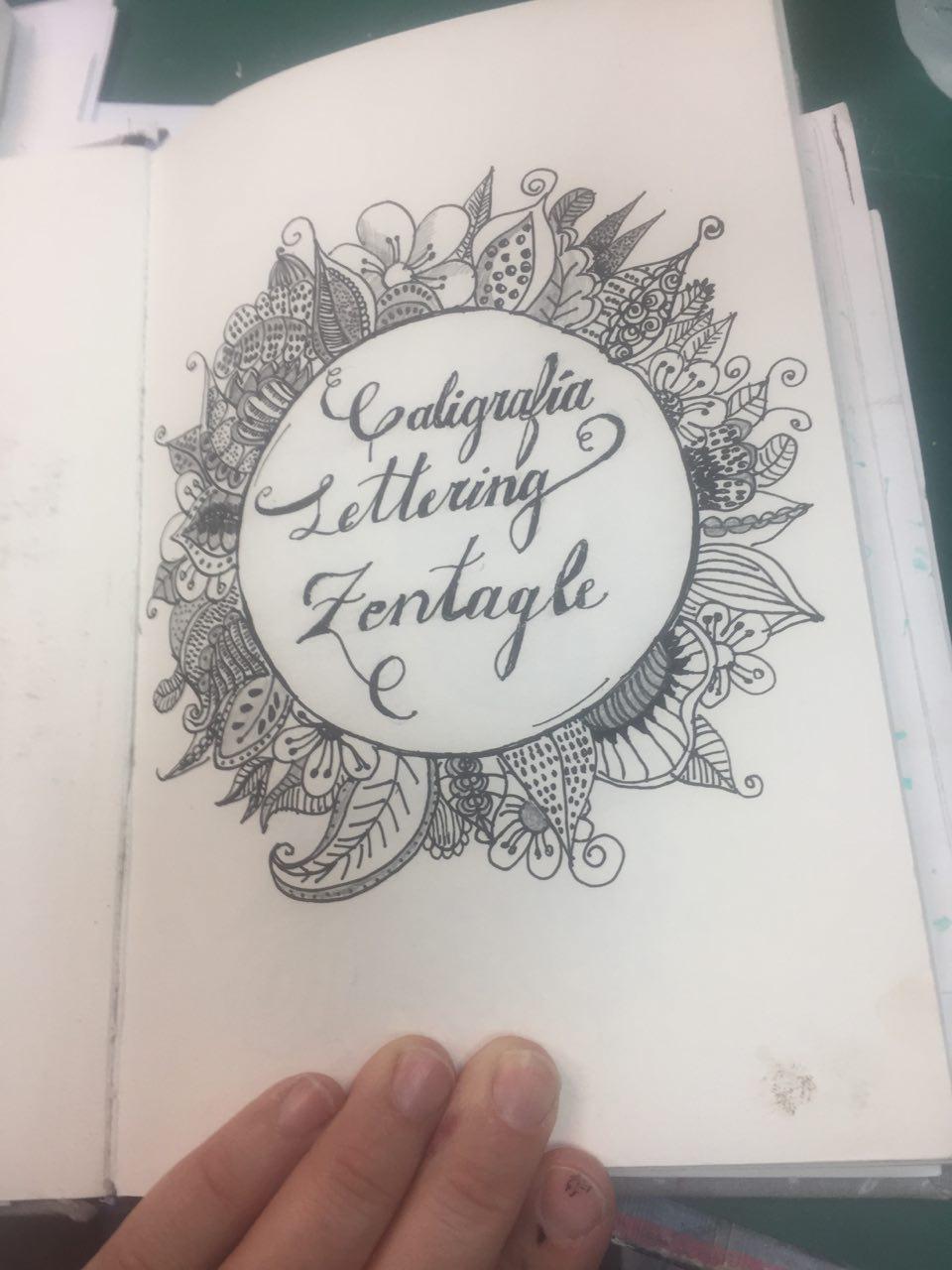 Blue Scrap & Lettering: Zentangle o Dibujo con Patrones.