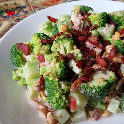 Broccoli Salad for Two