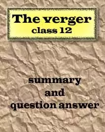 The verger questions answers class 12