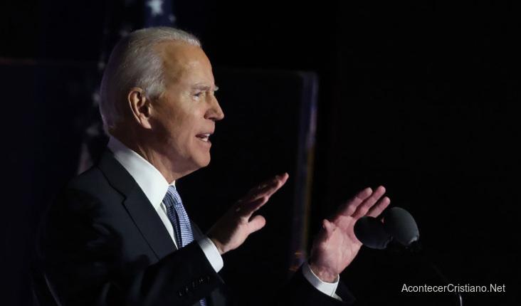 Joe Biden en discurso