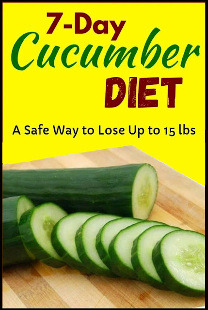 Cucumber Diet – Lose 15 Pounds In Just 7 Days