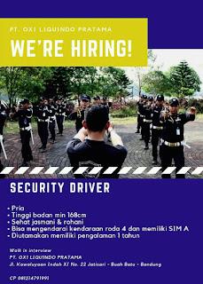 Lowongan Kerja Security Driver Bandung
