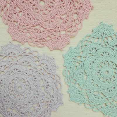 ByHaafner, crochet, doily, pastel, Japanese crochet patterns