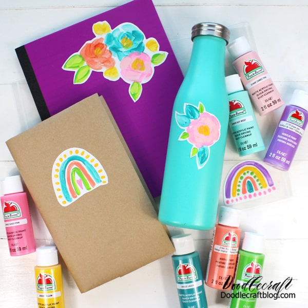 Get some Apple Barrel Paint in all the most fabulous colors and start making your own custom stickers today!