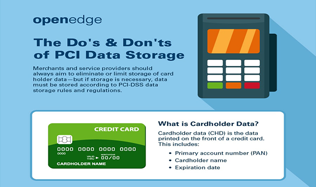 The Do's and Don'ts of PCI Data Storage #infographic