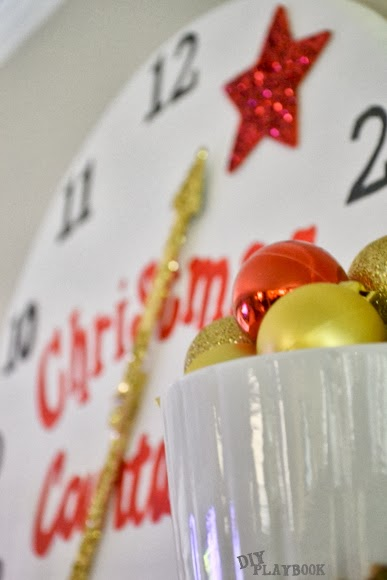 Prop your christmas countdown clock on your mantle and start counting!