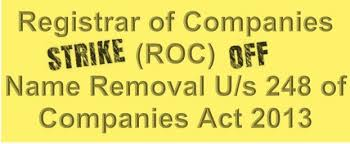 Section 248 of Companies Act 2013  Notice